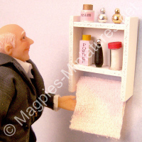 Toiletries Shelf and Towel