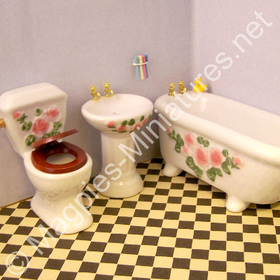 Pink 3 piece Bathroom Set