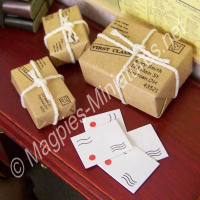 Parcels Wraped with String