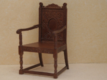 Carved Armchair - Walnut