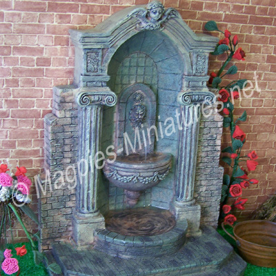 Water Fountain, Aged Resin