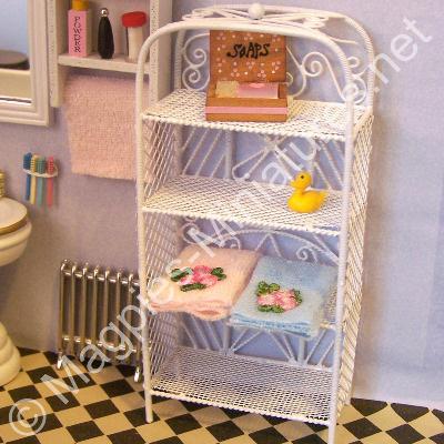 White Bathroom Shelving Unit