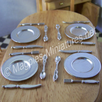 Metal Plate Cutlery 4 Place