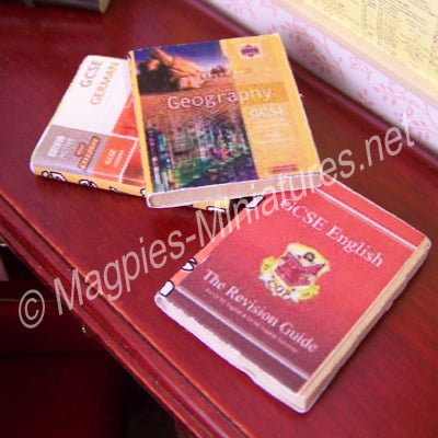 3 Text Books English German Geography
