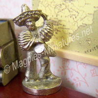 Pewter Mexican Figurine