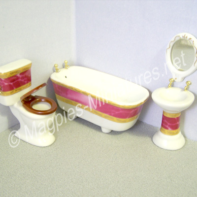 Pink and Gold bathroom set
