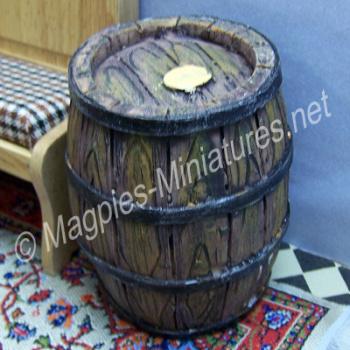 Rustic 'Wooden' Barrel - Resin