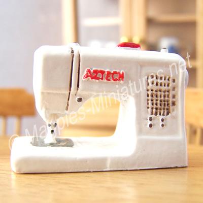 Modern White Sewing Machine