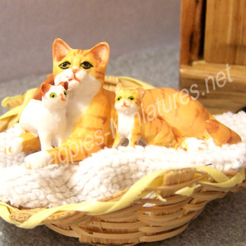 Mother Cat and Kittens - Ginger
