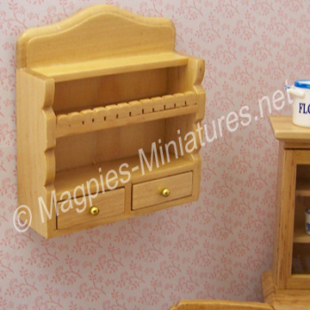 Wall Shelf Unit with Drawers