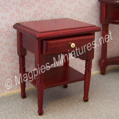 Side Table with Drawer Mahogany