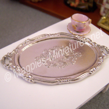 Silver Coloured Metal Salver
