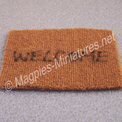 Door Mat - welcome - Brown