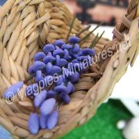 Purple Lilac Flower Spray Stems - set of 6