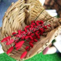 Red Flower Spray Stems - set of 6