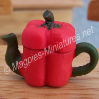 Vegetable Teapot- Red Bell Pepper
