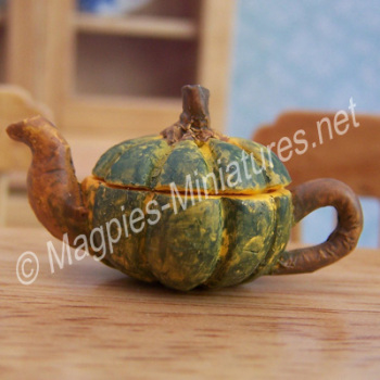 Vegetable Teapot- Green Pumpkin