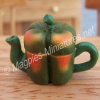Vegetable Teapot- Green Bell Pepper