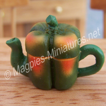 Vegetable Teapot- Green Bell Pepper