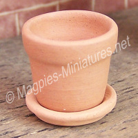 Clay Pot With Saucer
