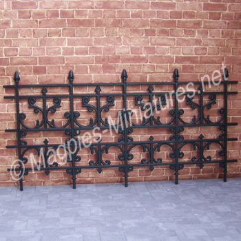 Plastic 'Wrought Iron' Railings