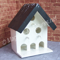 Wall mounted dovecote, square, painted