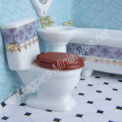 df322 blue and gold bathroom toilet