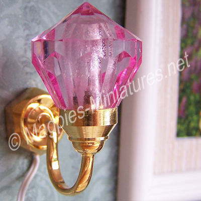Drop Wall Light. Pink