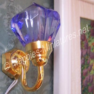 Drop Wall Light, Purple