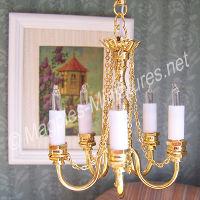 5 Arm Chain Chandelier