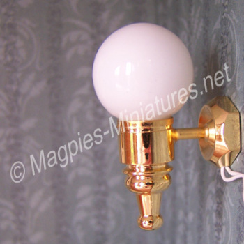 White Globe Wall Lamp