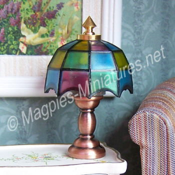 Non-working Tiffany Style Table Lamp