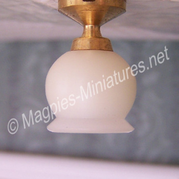 Short Ceiling Light , Round Shade