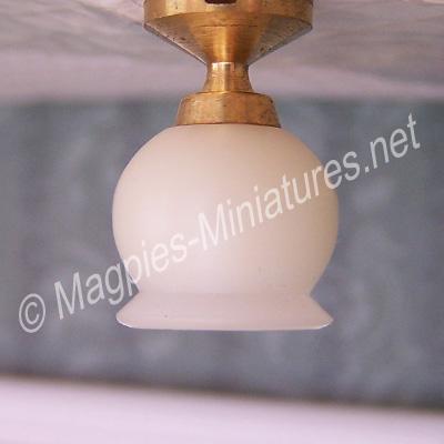 Short Ceiling Light , Round Shade