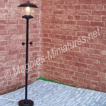 Black Plastic Lamp Post-Mains Powered