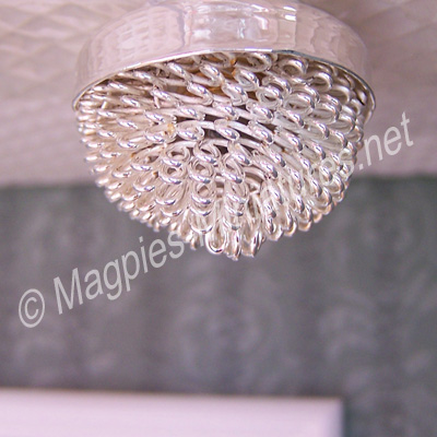 Silver / Glass Ceiling Light