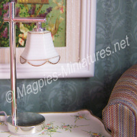 Modern Table Lamp Down Tulip Shade -  Silver
