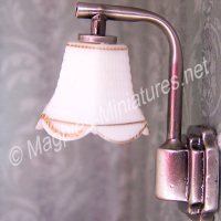 Modern Wall Lamp with Down Tulip Shade - Silver