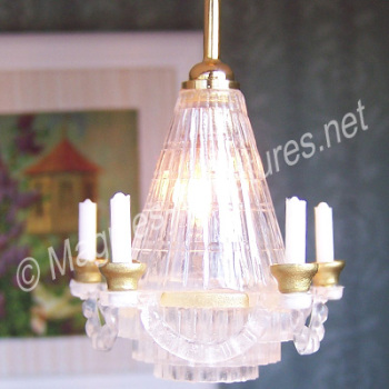 Chandelier with Imitation Candles