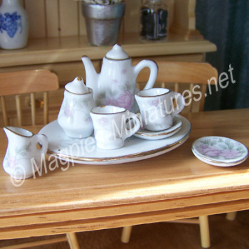 Pink Floral Coffee Set - FILLED