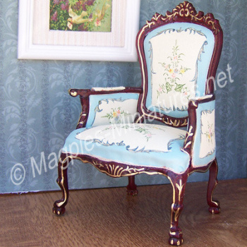 023 - Blue and Cream Living Room - Chair - Jiayi
