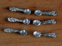 Set Of 6 Tea Spoons - 1:24 24th Scale