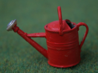 Red Watering Can - Metal