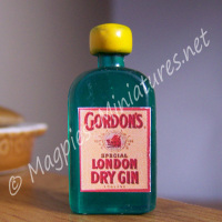 Gin Bottle - Flat - Plastic