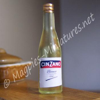 White Wine Bottle - Plastic