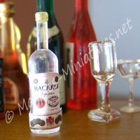 Small White Rum Bottle - Plastic