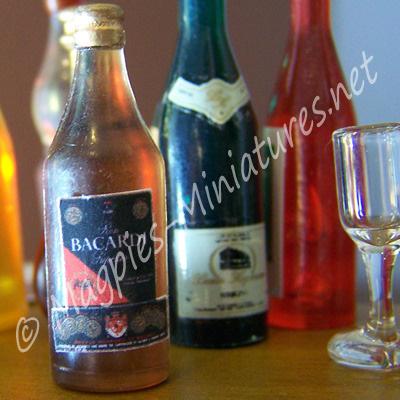 Dark Rum Bottle - Plastic