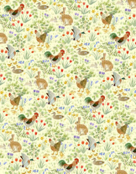 Country Springtime  Wallpaper - Lemon Yellow
