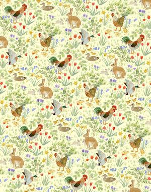 Country Springtime  Wallpaper - Lemon Yellow