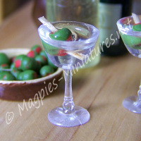 Filled Martini Glass
